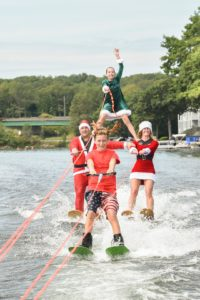 Merry Christmas Water Ski Webster Lake