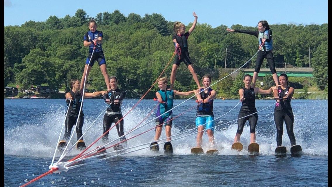 2 Tier Water Ski Pyramid